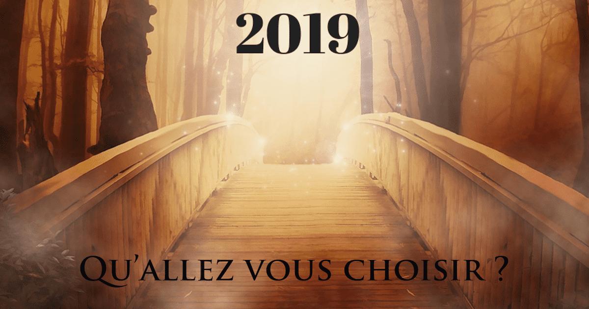 2019: Qu'allez-vous choisir?